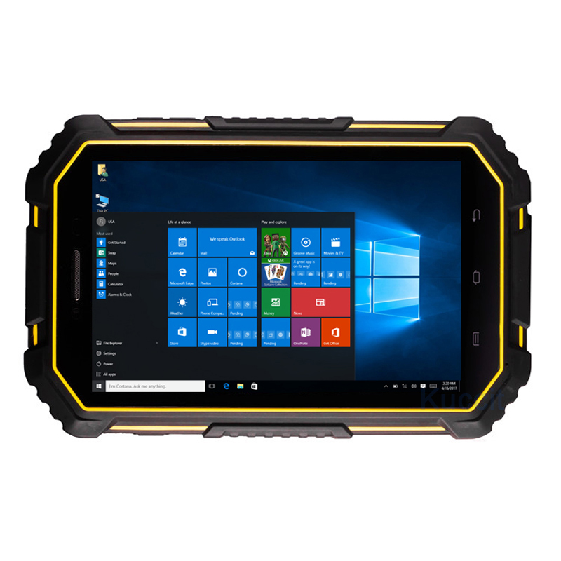 2018 Industrial Rugged Tablet PC Windows 10 Android Dual OS Computer Palmare 7