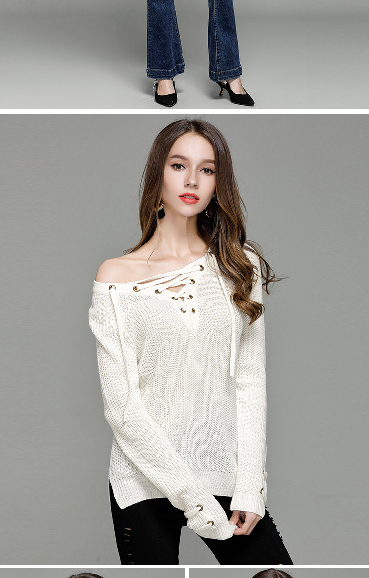 HTB1e0UySXXXXXapXXXXq6xXFXXX1 - Sexy V-Neck With Knitted Long Sleeve Sweater JKP286