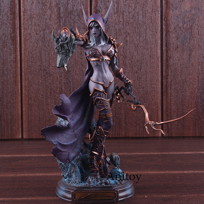 Cataclysm Figures of Games Sylvanas Windrunner Action Figure PVC Collectible Model Toy 22cm games illidan 14 pvc action figure collectible model toy 4 10cm kt2242