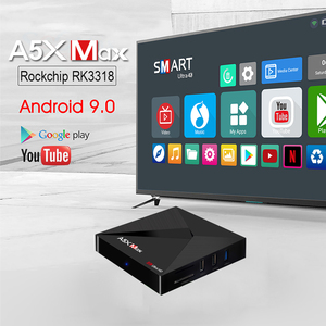 Image 3 - A5X MAX Smart Android 9.0 TV Box 4K HD TV Box RK3318 Quad Core Media Player Support 2.4G WiFi Wireless 100M LAN Set top Box