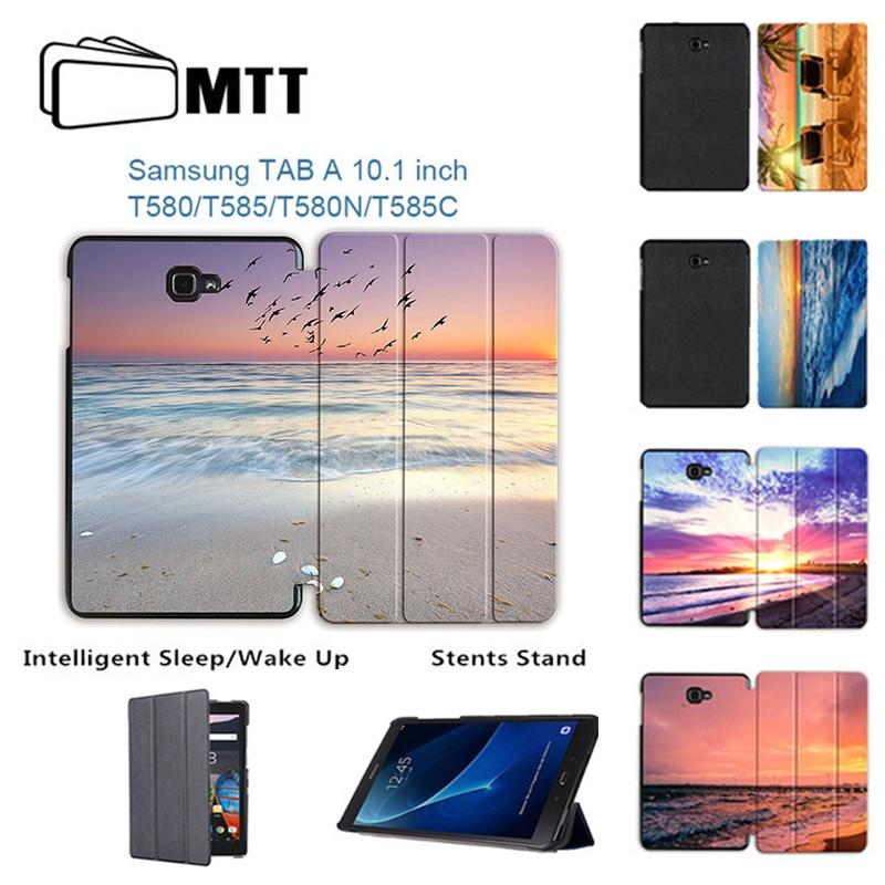 MTT Sunburst Case for samsung galaxy tab A 10.1 T580 T585 SM-T580 SM-T585 Magentic Smart tablet cover for galaxy tab A 10.1 2016 чехол для samsung galaxy tab a 10 1 sm t580 sm t585 samsung белый
