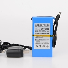 DC 12680 High Capacity 12V 6800mah Super Rechargeable switch Lithium-ion Battery Pack For Cameras Camcorders