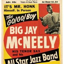 Cartel de publicidad Vintage concierto All Star Jazz Band pinturas clásicas en lienzo carteles de pared Vintage pegatinas decoración del hogar regalo