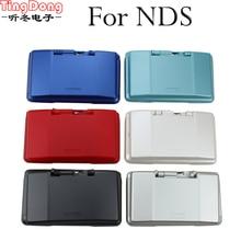 TingDong 7 צבעים במלאי מלא שיכון מעטפת מקרה עבור Nintend DS פגז דיור כיסוי מקרה מלא סט עם כפתור עבור NDSCase