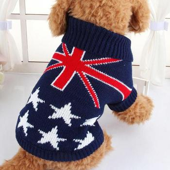 Printed Pet Sweater Warm Jumper Knit Sweater Clothes For Cat Dog Clothes Costume High Quality Drop Shopping