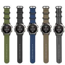 22mm sport Nato Nylon Strap 3 Ring Watch Band for Garmin Fenix 5 plus / Forerunner 945 935 with Tools For Garmin approach S60