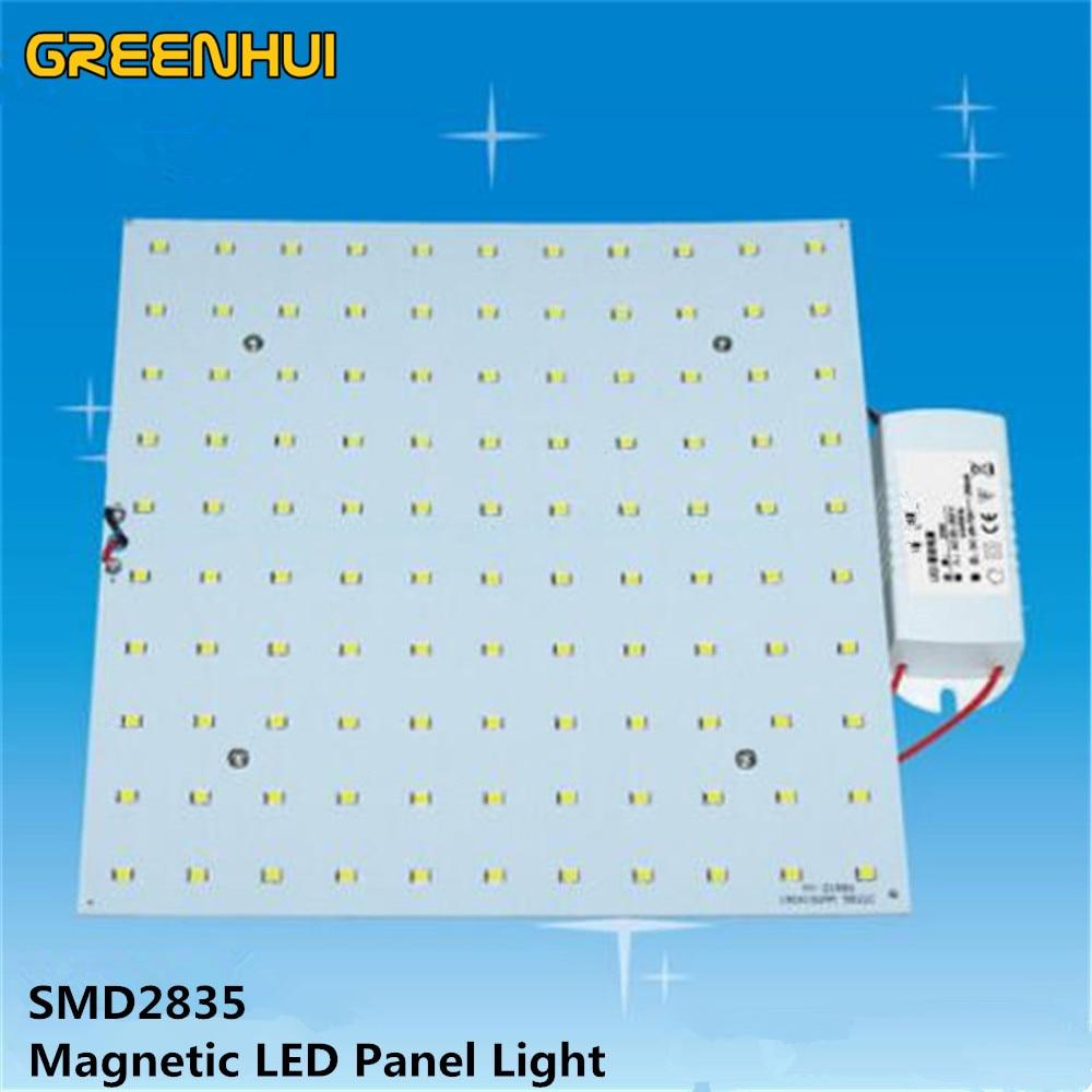 NEW 5W 8W 13W 18W 22W 26W 36W 52W 72W Square LED Ceiling Light Panel SMD2835 LED Lamp Board With Magnet Screw+Driver 110V 220V