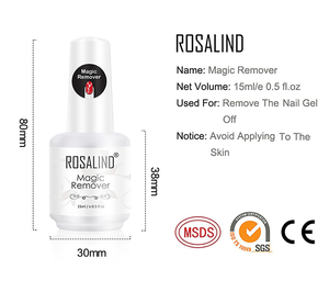 Image 4 - ROSALIN Nail Gel Polish Magic Remover For Manicure Fast Clean Within 2 3 MINS UV Gel Nail Polish Remove Base Top Coat