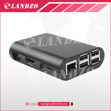 LANDZO Black Raspberry pi 3 Case Protective Case Cover Box for Raspberry Pi 3, Pi 2, Pi Model B+ Free Shipping