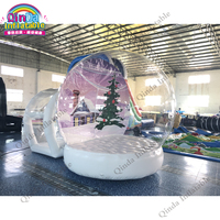 Party event inflatable human size bubble snow ball tent,Christmas inflatable snow globe bouncy castle for advertising