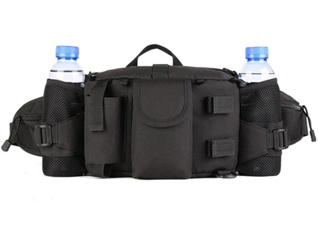 New Men Nylon Waterproof Military Travel High Capacity Water Bottle Shoulder Messenger Fanny Waist Pack Bag