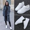 2016 Mulheres Primavera Verão Outono Sapatos Rasos Femininos de Couro Pu Sapatos Casuais Zapatillas Deportivas Zapatos Hombre Chaussure Femme