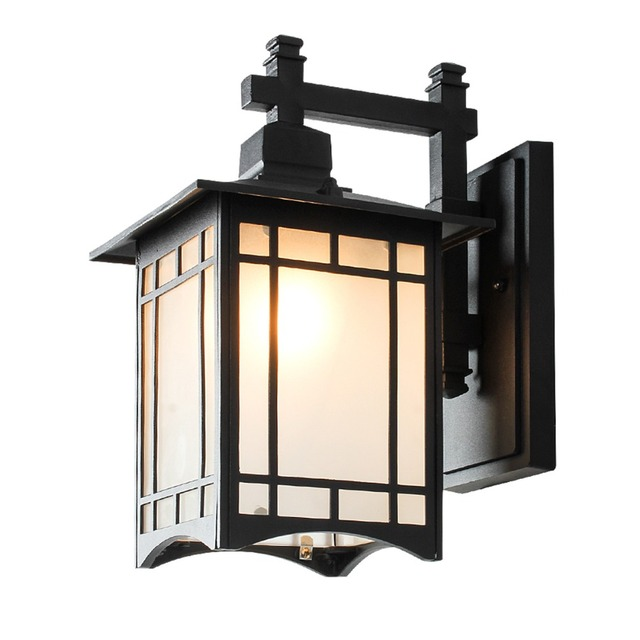 Balcony wall lamp european waterproof retro outdoor wall lamp balcony wall lamp european waterproof retro outdoor wall lamp chinese corridor aisle outdoor simple wall lamp mozeypictures Gallery