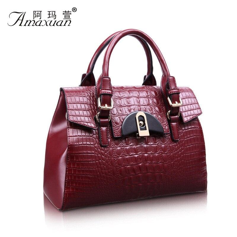 100% Genuine Leather Bag New Women leather Handbags Famous Brand women messenger Bags Ladies Shoulder Bag Bolsos 2015 BH783