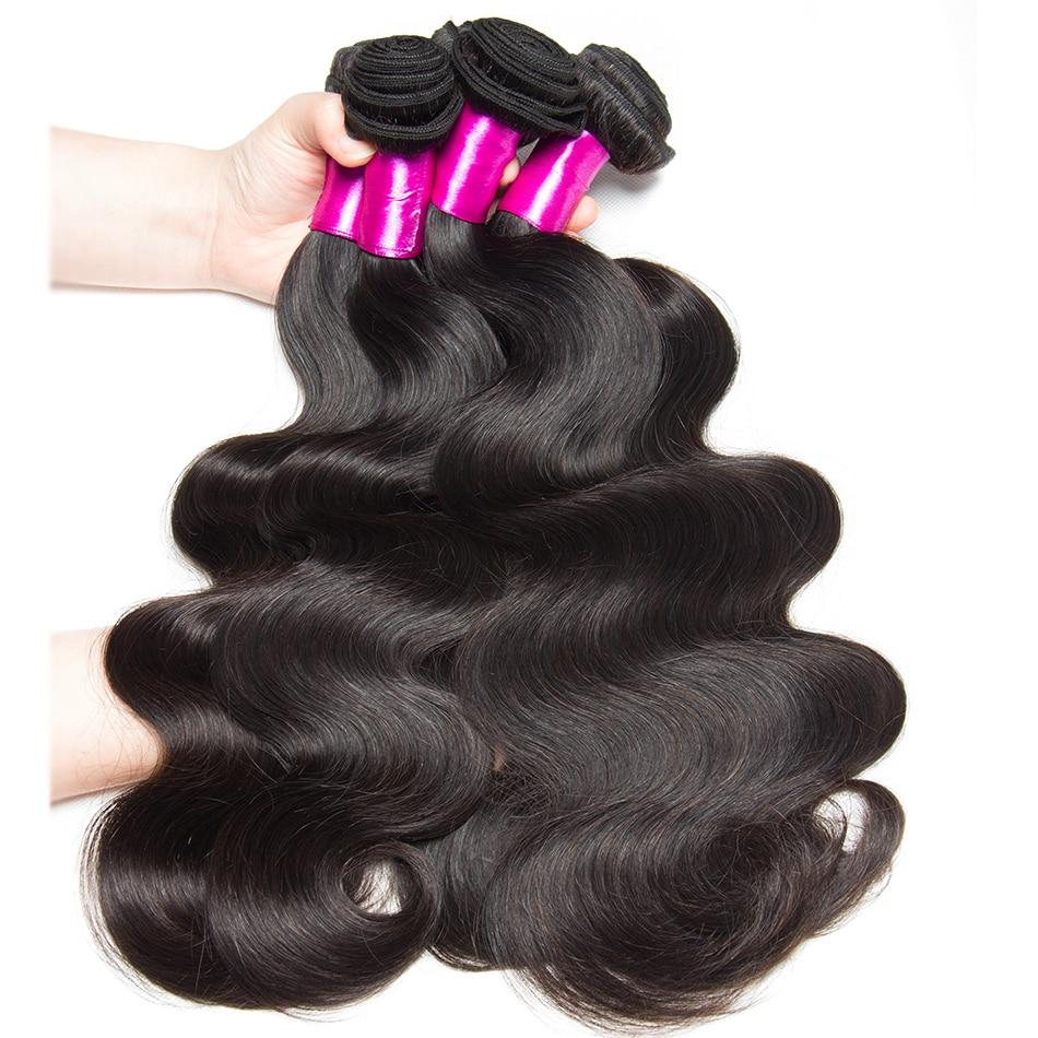 Haarverlängerungen Brasilianische Körper Welle Menschliche Haarwebart Bundles Remy 1 4 3 Bundles Befasst Natürlichen Schwarz Bundles Doppel Schuss Alibele Haar Erweiterung Up-To-Date-Styling