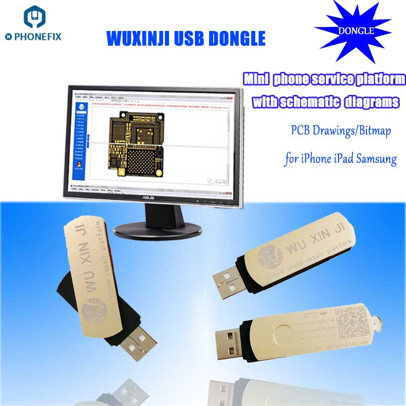 PHONEFIX Wu Xin Ji Wuxinji Fivestar USB Dongle For IPhone Samsung PCB Motherboard Schematic Diagram Repair Soldering Assistant