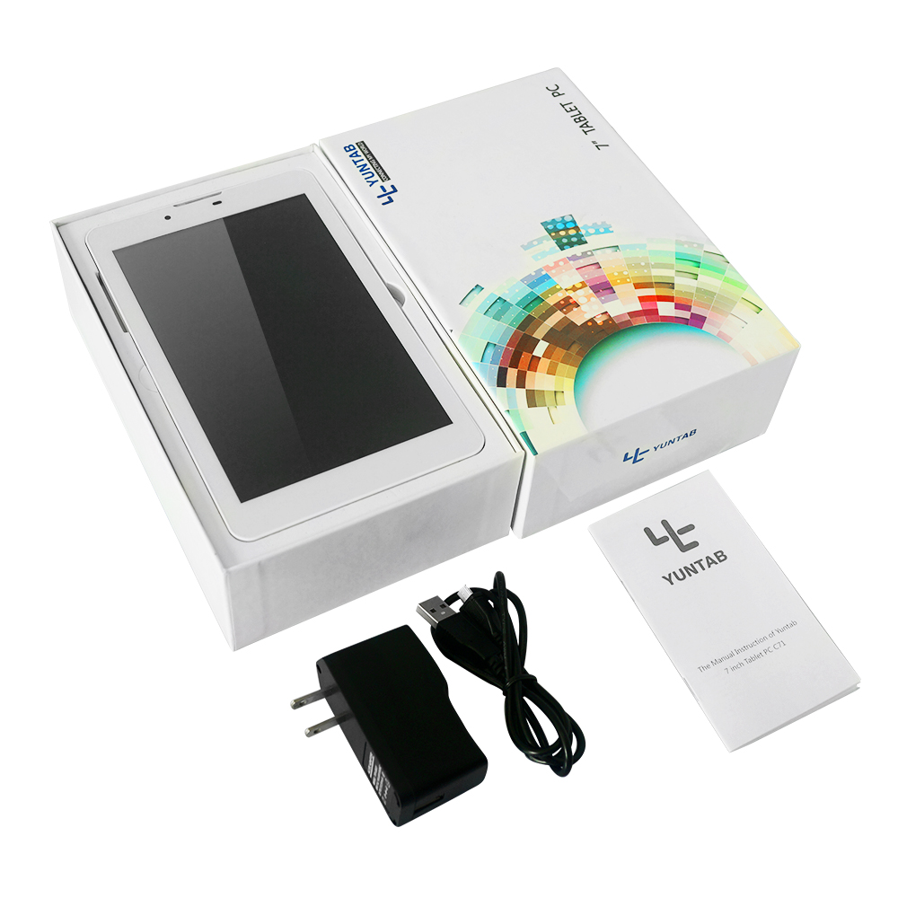 Yuntab 7 Google Android 4 4 single SIM Card Cell phone Tablet PC 2G 3G Wifi