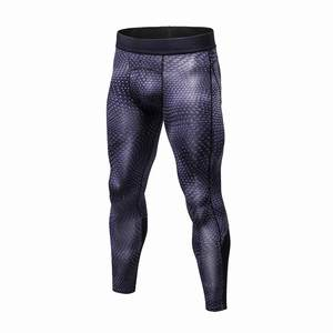 Sportswear Leggings Long-Pants Compression Elastic Fitness Snake-Scale Quick-Dry Men's
