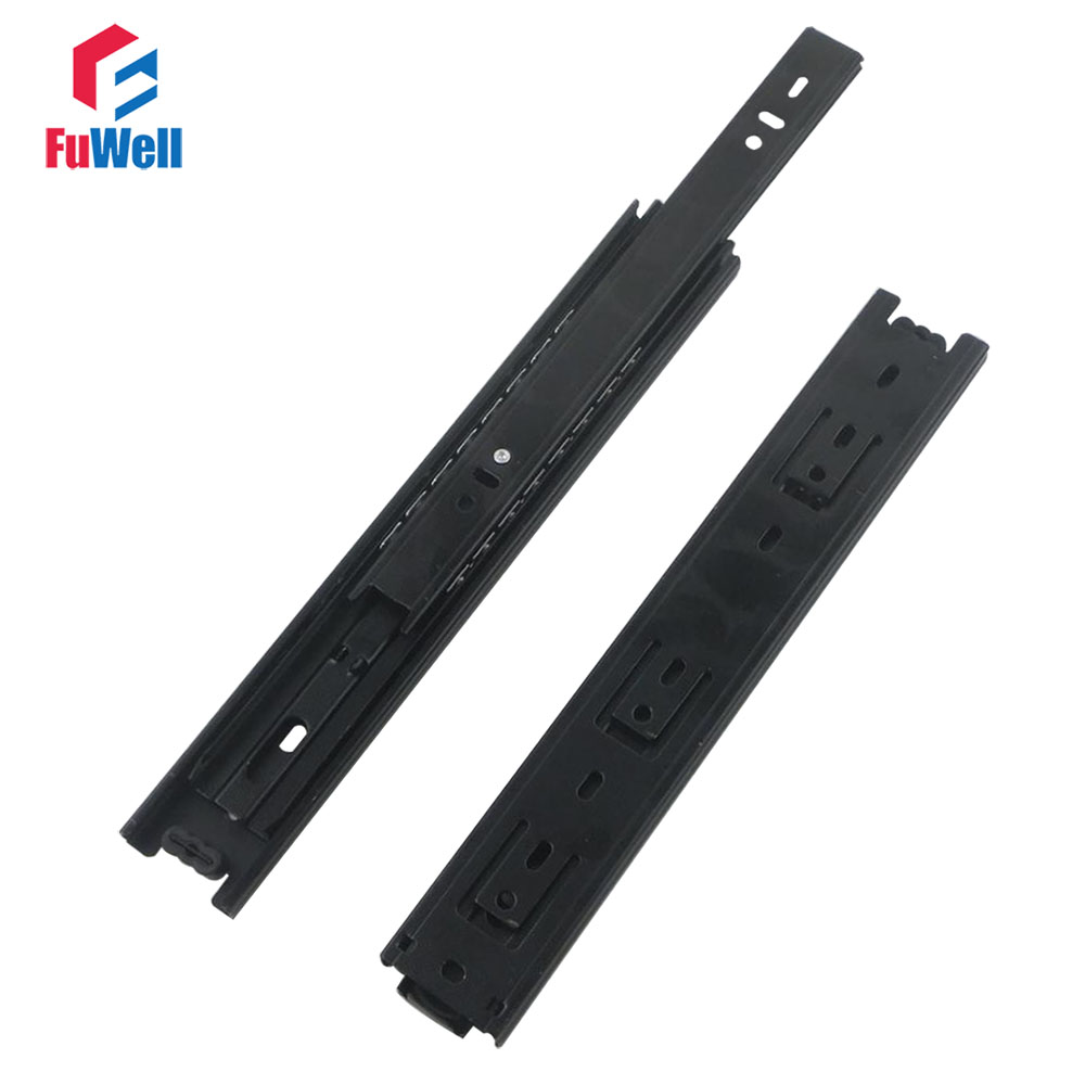 2pcs 20''Length Drawer Sliding Rail 40mm Width Black Cold-Rolled Steel Fold Telescopic Ball Bearing Drawer Cabinet Slide Runner diy kits 150w 10a battery capacity tester adjustable constant current electronic load discharge test aug 22 dropship