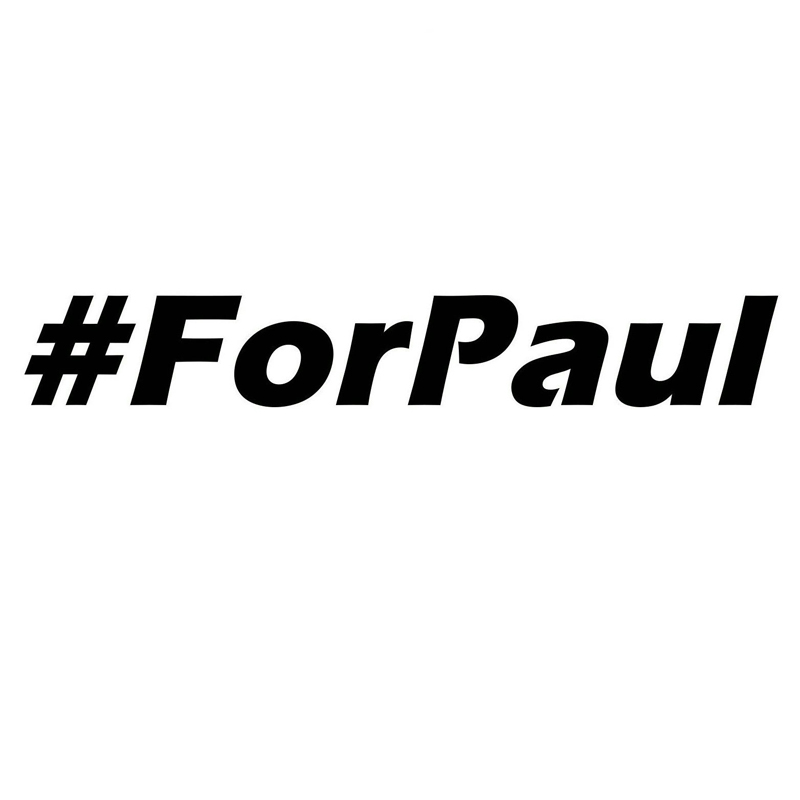 12.7cm*1.9cm For Paul Wolaker Fast And Furious Vinyl Car-Styling Car Sticker S4-0465