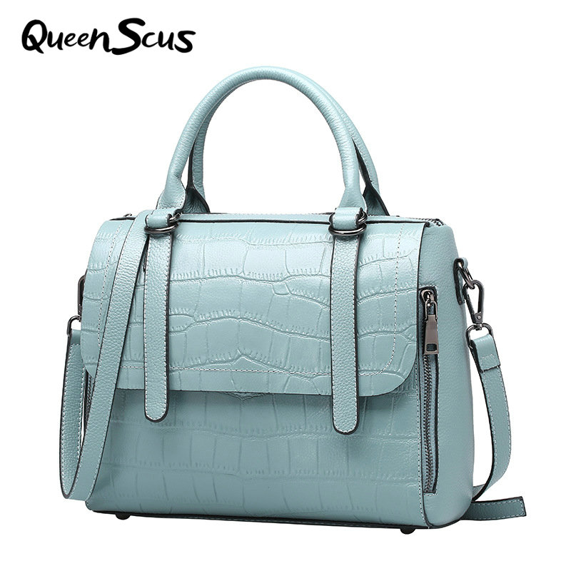 Women 100% Genuine Leather Casual Fashion Handbag Alligator Laptop Shoulder Messenger Bag Lady Brand Luxury Noble Crossbody Bag 2017 fashion women bag genuine leather alligator pattern women shoulder bag soft leather brand bag women handbag femaletote bag