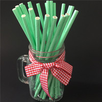 25PCS Paper Straws Christmas/Birthday/Wedding Party Decoration event Supplies Paper Drinking Straws green