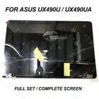 NOVO 14.0 FHD full set assembléia tela para ASUS ZenBook 3 Deluxe UX490UA UX490U UX490UAR blue & cor cinza metade superior do display
