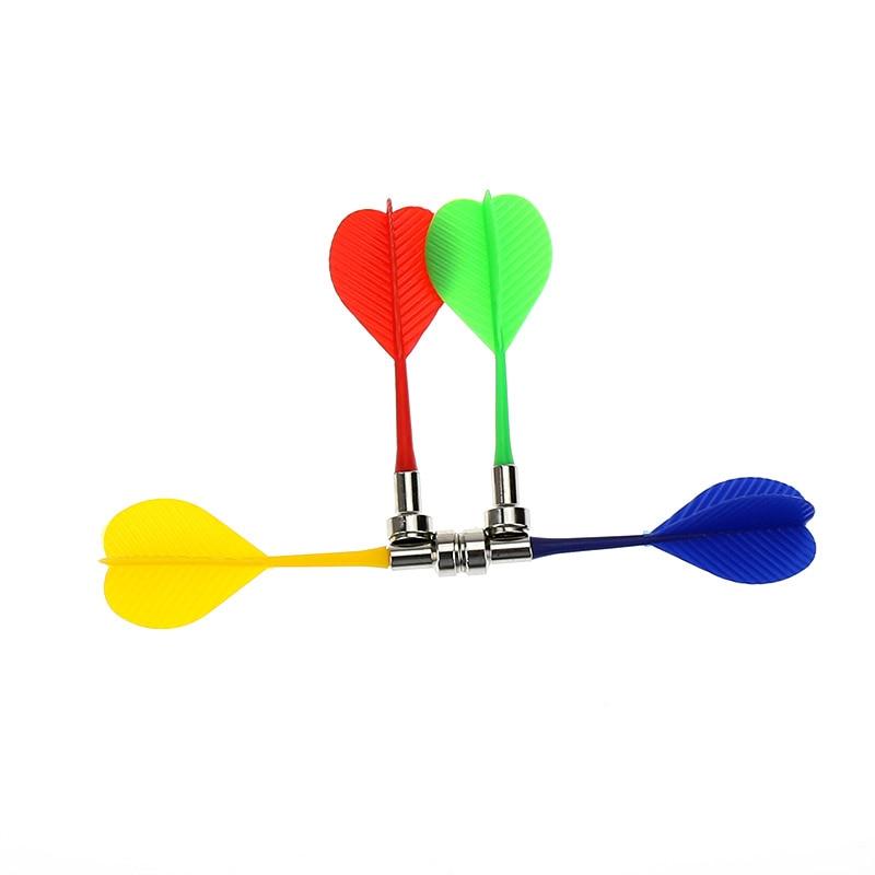 12 шт./лот 4 цвета зеленый/синий/красный/желтый яблочко target игровой Пластик Дартс крыло Магнитная Дартс для двусторонняя Валы доска