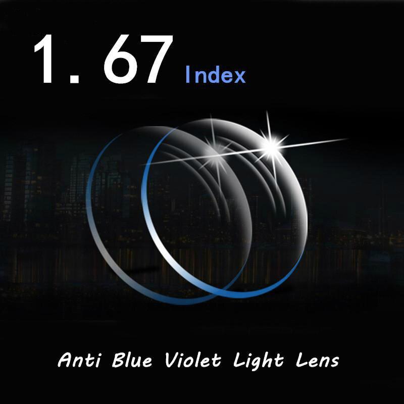 Viodream 1.67 lentilles Anti-Violet bleu clair myopie lecture Prescription bureau ordinateur travailleur smartphone lunettes lunettes lentille