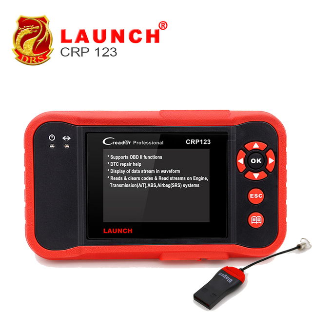 Best Offers Launch CRP123 Professional Diagnostic Auto code Scanner Global Version for ABS,SRS,Transmission & Engine OBD2 OBDII Code Scanner