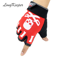 LongKeeper Free Shipping Men Women Gloves Exercise Body Building Workout Weight Lifting Gloves Half Finger