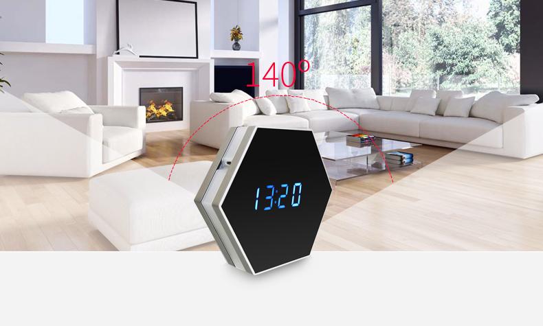 Horloge Mini Caméra HD 1080 P Sans fil WIFI