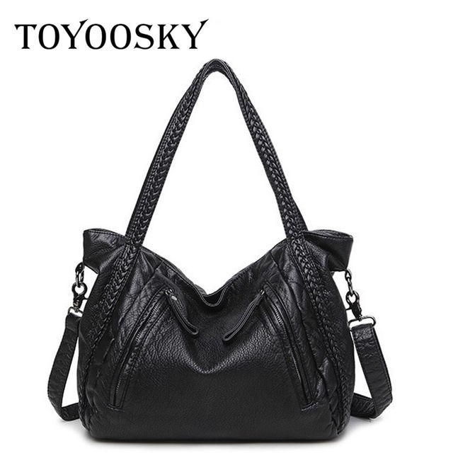 fc2a8aac92d 2017 Large Soft Leather Bag Women Handbags Ladies Crossbody Bags For Women  Shoulder Bags Female Big