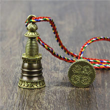 LKO new arrive Pure copper relief tower stupa tower pendants wheel amulet transport safe necklace freeshipping(China)