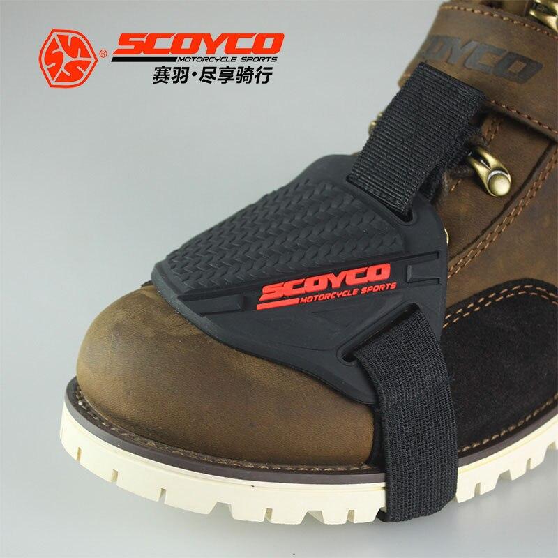 2018 Новый SCOYCO мотоциклетные передач защитный рукав поддержки резиновая обувь Guadang резиновая обувь защиты рукава блокирование