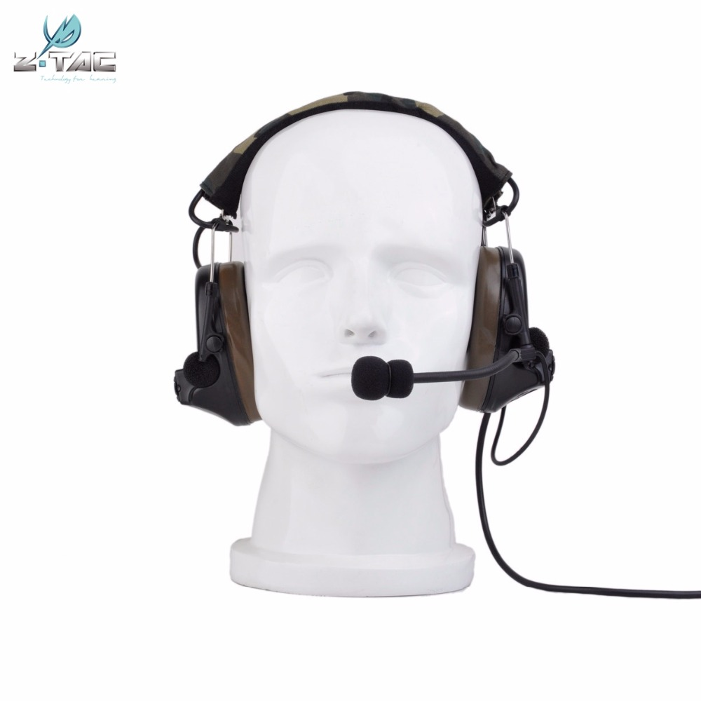 Z Tac Tactical Headset Comtac ii Peltor Pickup Noise Canceling Aviation Airsoft Hunting Headphones Tactical Acccessories Z041 in Tactical Headsets Accessories from Sports Entertainment