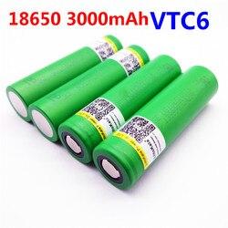 Liitokala VTC6 3.7V 3000mAh rechargeable Li-ion battery 18650 for Sony US18650VTC6 30A Toys flashlight tools