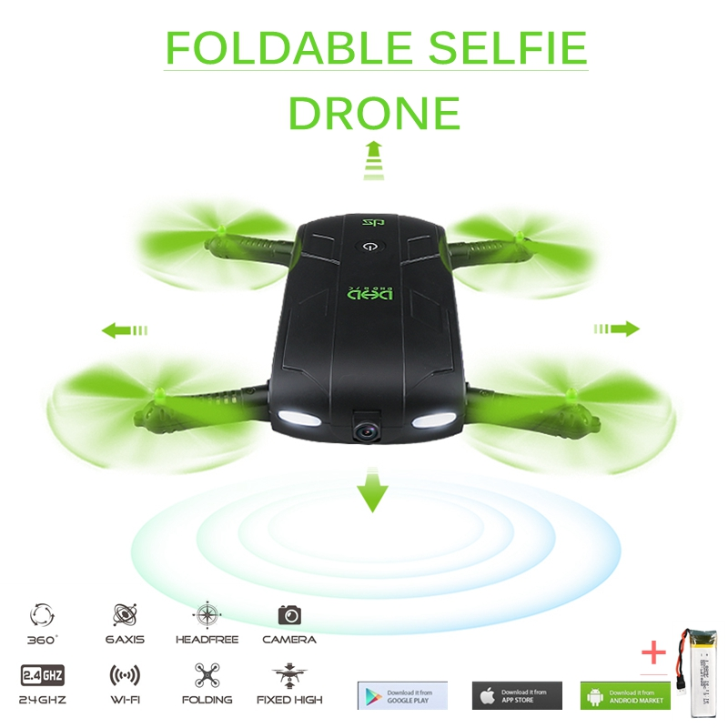 DHD D5 Selfie Drone With Camera Foldable Pocket Rc Drones Phone Control RC Helicopter Fpv Quadcopter Mini Drone dhd d5 selfie drone with wifi fpv hd camera foldable pocket rc drones phone control helicopter vs jjrc h37 mini quadcopter toys