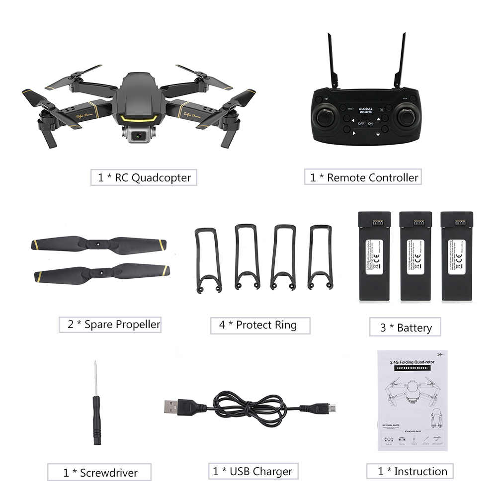 グローバル GW89 RC ドローン 1080 カメラ HD Wifi FPV ジェスチャー写真ビデオ高度ホールド折りたたみ RC Quadcopter 用初心者 VS E58