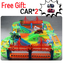 DIY Universal Accessories for Glow Racing in the Dark Magical Track Educational Rail Car Toy Racil Tracks Car Kids For Toys Gift