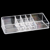 Urijk Lipstick Holder Display Stand Makeup Organizer Storage Box For Jewelry Container Organizer For Cosmetics Storage