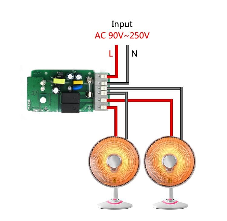 Sonoff 16a Smart Home Wifi Smart Remote Control Temperature
