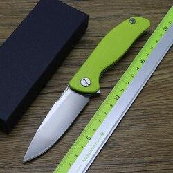 Małe F3 na zewnątrz camping łożyska nóż składany Flipper G10 uchwyt wspinaczka górska Sprzęt wędkarski EDC narzędzia