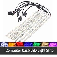 10 pcs/lot Colorful LED SMD Adhensive Strip Led Light Bar Neon 12V 4 Pin Connector 7 Color