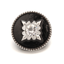 PAPAPRESS Wholesale 10pcs/lot Snap Jewelry 18mm Black Oil Painting Snap Buttons Fit  Leather Snap Bracelet Jewelry