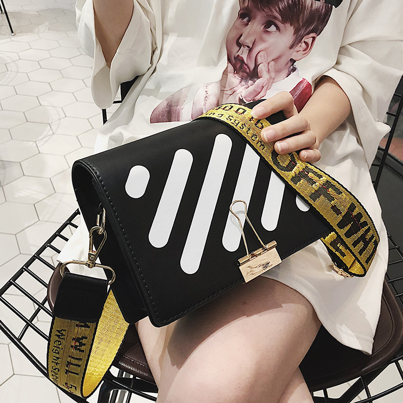 SINTIR Fashion Women Handbags Striped Wide Straps Small Clutch Women Messenger Bags Mini Soft PU Leather Ladies Shoulder Bags fabra new striped fashion women handbag bag handbags women messenger bags crossbody small pu leather ladies shoulder bags grey