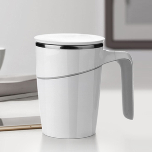 Image 2 - Original Xiaomi Fiu Non slip Sucker Pouring Cup 470ml 304 Stainless Stell ABS Double Insulation Cup