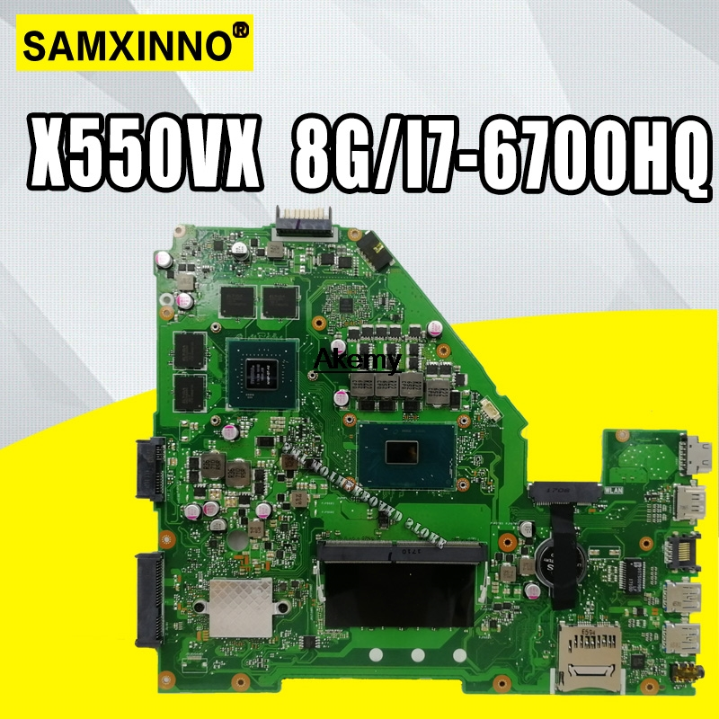 X550VX MB._8G/I7-6700HQ/AS X550VX Mainboard REV 2.0 For ASUS FX50V K550VX X550VX X550VQ  Motherboard Test Ok  Exchange!!!