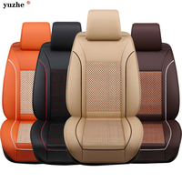 Yuzhe Leather Fabric Universal Seat Cover Set Red Car Styling Fit Most Car Interior Accessories Sedans