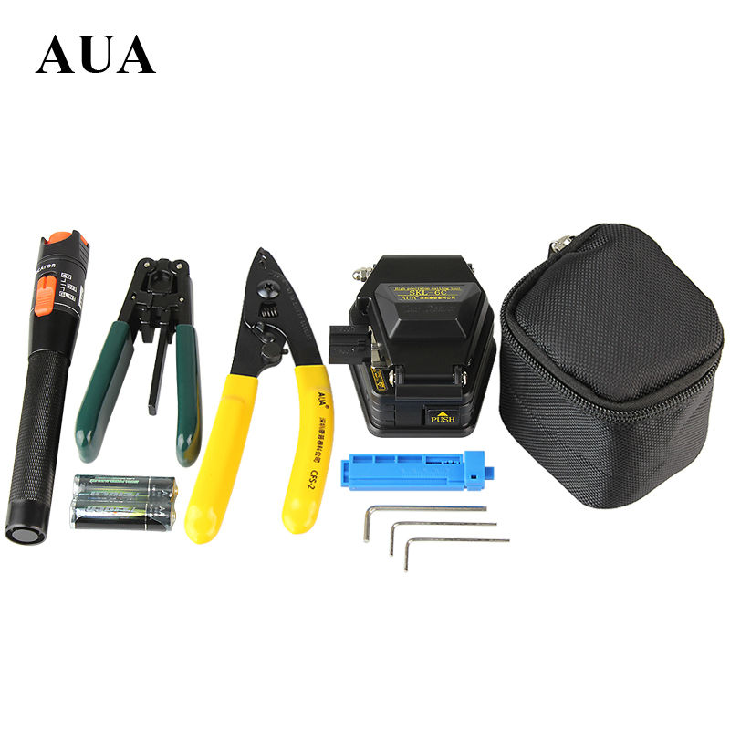 Livraison gratuite Fiber Optique Outil 5 en 1 FTTH Épissure de fibers optique outil kits Fibre stripper SKL-6C fendoir de fiber Visual Fault Locator